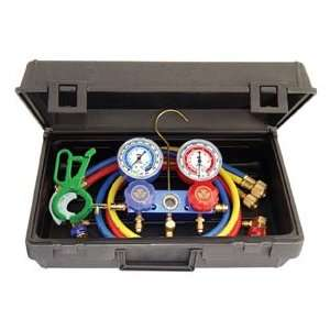 Professional R134a Manifold Gauge Set with Free 3 IN 1 Side Mount Can