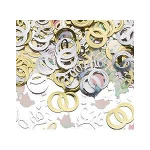 Wedding Vows Rings I Do Dove Gold and Silver Confetti 1