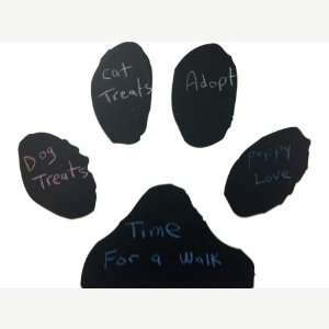 Dog Cat Black Paw Print Chalkboard Vinyl 22 Inches
