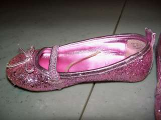 Infant Toddler Girls Capelli Pink Sparkly Ballet Flats Shoes Size 8 9