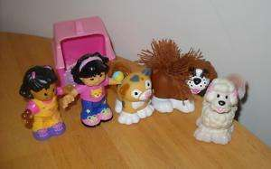 Fisher Price Little People Cat Dog Sonya Lee Mia HTF