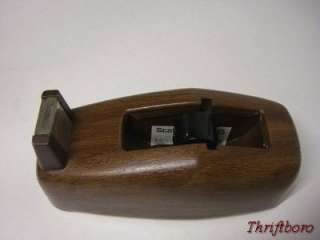 Vintage Scotch Executive Desk Top Tape Dispenser Model C 21 Wood Grain