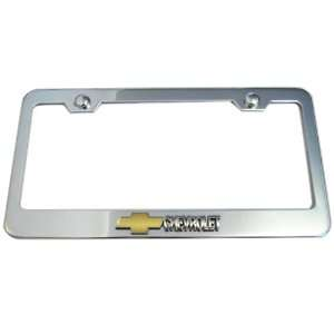 Chevrolet Bowtie Logo Chrome License Plate Frame (Made of