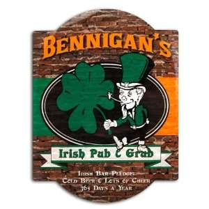 Irish Pub & Grub Bar Sign