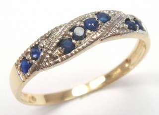 BEAUTIFUL 10KT SOLID GOLD SAPPHIRE BAND RING