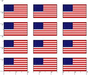 PACK OF 12  USA American Flags Helmet Small Stickers