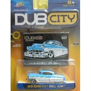 Jada Dub City 1953 White and Blue Chevy Bel Air 164 Scale