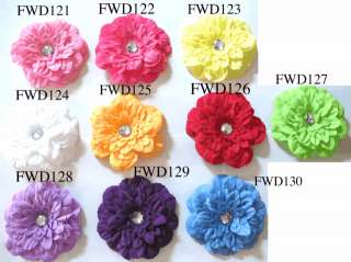 Crystal gerber daisy flower clip hair bow U pick 5