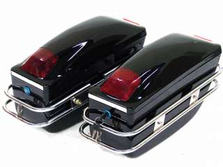 Motorcycle hard saddle bags trunk for harley honda suzuki