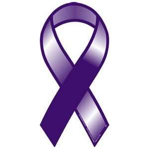 Purple Awareness Ribbon Magnet Automotive