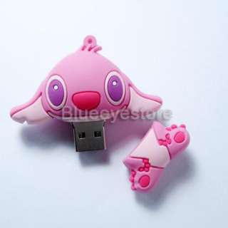 4GB Cute Cartoon Pink Stitch USB 2.0 Flash Memory Pen Stick Drive Real