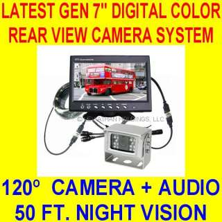 COLOR REAR VIEW BACKUP CAMERA SYSTEM CAR TRUCK RV