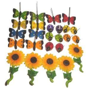 Decorative Colorful Butterflies and Sunflower Fridge Magnets 2.0h