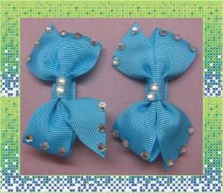 GIRLS BABY HAIR BOW CLIP DIAMOND BUTTERFLY ALLIGATOR CLIP