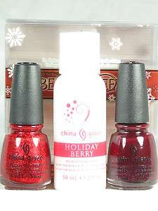 China Glaze Polish Holiday 2011 BERRY SWEET Ring In The Red Velvet Bow