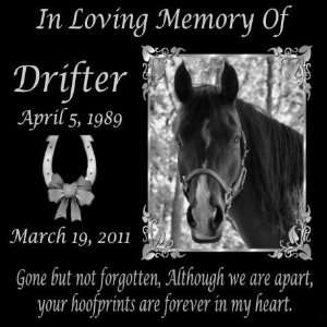 Gifts Personalized Gone But Not Forgotten Black Granite Pet Memorial