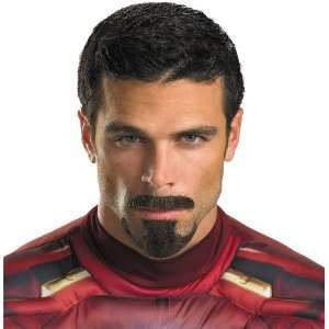 ) Movie   Tony Stark Facial Hair / Black   One Size