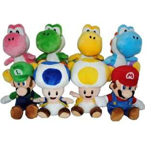 Super Mario Bros. Nintendo Wii 6 Plush Asst Case Of 12 Toys & Games