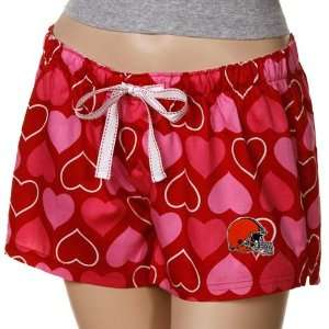 Browns Ladies Red Candy Hearts Boxer Shorts