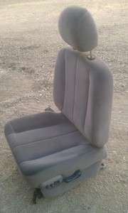 02 05 DODGE RAM CLOTH POWER DRIVER SEAT COMPLETE TRACK TAUPE LUMBAR