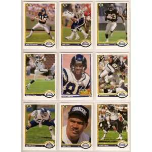 San Diego Chargers 1991 Upper Deck Football Team Set