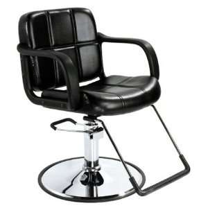 Professional Hydraulic Styling Salon Barber Chair Black