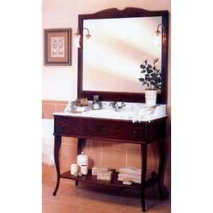 Epoca Vanity Sink Set   Walnut   Antique Brass