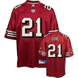 Frank Gore #21 San Francisco 49ers Youth NFL Replica Player Jersey by