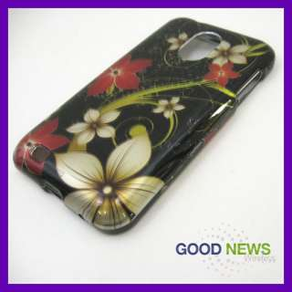 for Sprint Samsung Galaxy S2 Epic 4G Touch   Night Flower Hard Case