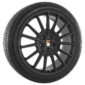22 Inch Black 170 Series Wheels Rims and Tires for Porsche Automotive