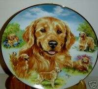 LOVELY GOLDEN RETRIEVER HEART OF GOLD PLATE BY PICKEN