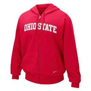 Ohio State Buckeyes Nike Youth Classic Arch Full Zip Hooded Sweatshirt