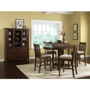 Urban Mission Casual 5 Piece Pub Table Set in Dark Oak