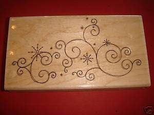 Penny Black Snow Scroll Rubber Stamp NEW