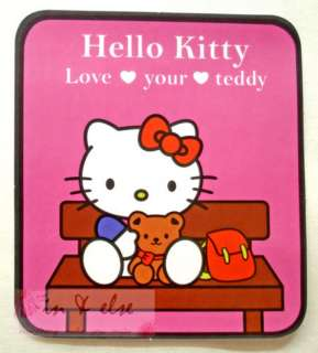 Hello Kitty & Teddy / Pink / Car Road Tax Vacuum Decal Sticker