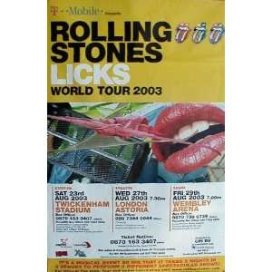 Rolling Stones (Licks Tour, Huge, Original) Music Poster Print   40