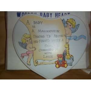 Friendly Home Parties Wooden Baby Heart Plaque Everything