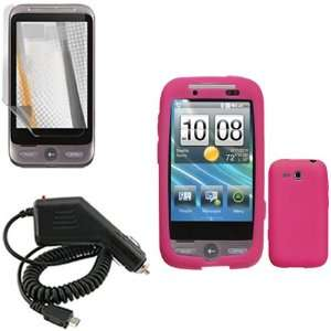 iNcido Brand HTC Freestyle F8181 Combo Trans. Hot Pink