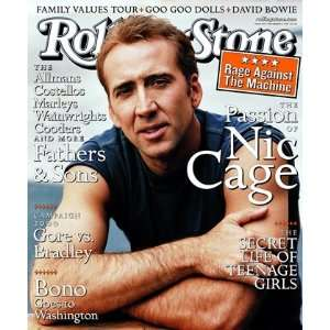 Nicolas Cage, 1999 Rolling Stone Cover Poster by Peter