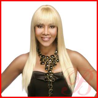 100% Human Hair Pure Stretch Cap Long Straight Full Wig H157