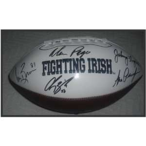Notre Dame Legends Autographed/Hand Signed Logo Football