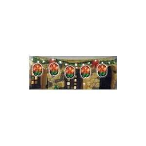 Set Of 5 Lighted PVC Peppermint Christmas Lights With