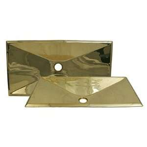 Copperhaus Solid Brass 13 Rectangular Bathroom Sink Finish Polished