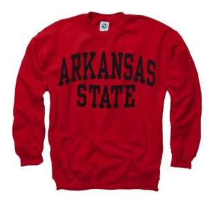 Arkansas State Red Wolves Red Arch Crewneck Sweatshirt