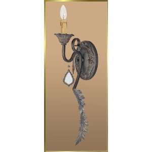 Wrought Iron Wall Sconce, JB 7033, 1 light, Bronze, 6 wide X 26 high