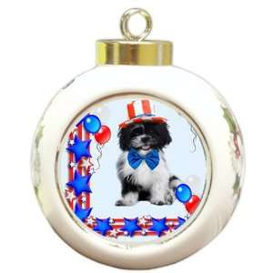 Shih Tzu Dog Christmas Holiday Ornament
