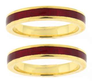 60%Off NEW Hidalgo Gold& Red Enamel Gaurd Rings Size6.5