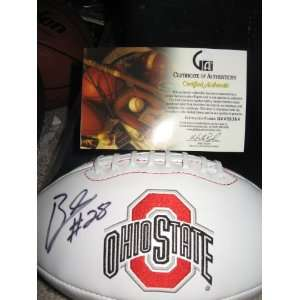Chris  Beanie  Wells signed autographed Ohio State logo