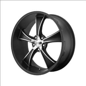 American Racing Blvd 805 Black Wmachine 20x10 Black w/Machine   38