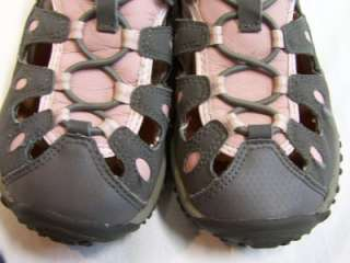MERRELL GIRLS SANDALS SHOES CHAMELEON CARGO KIDS GREY/ PINK SIZE US 12